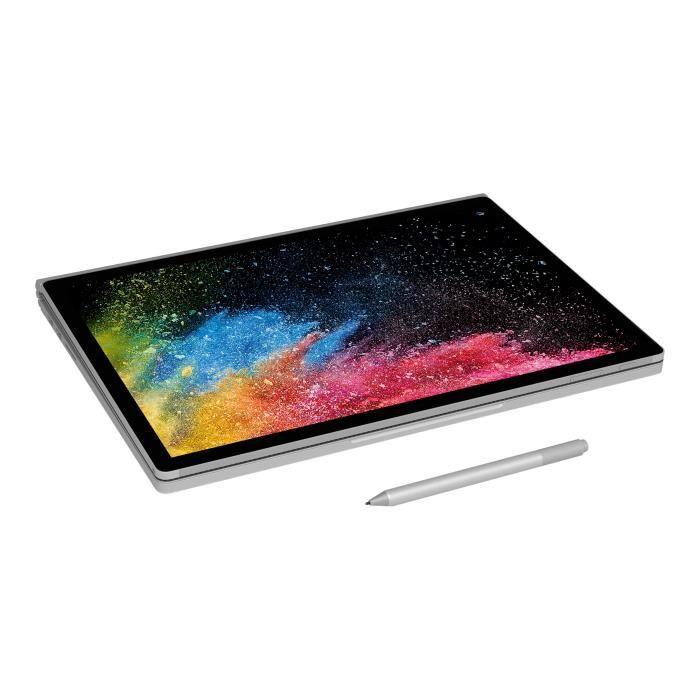 Microsoft Surface Book 2 Tablette avec socle pour clavier Core i7 8650U / 1.9 Ghz Win 10 Pro 64 bits 16 Go Ram