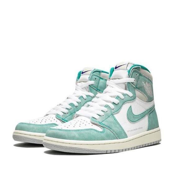 Nike Air Jordans 1 Retro High OG Turbo Green Chaussures de Basket Air Jordans One AJ1 Pas Cher pour Homme Femme Blanche et Verte