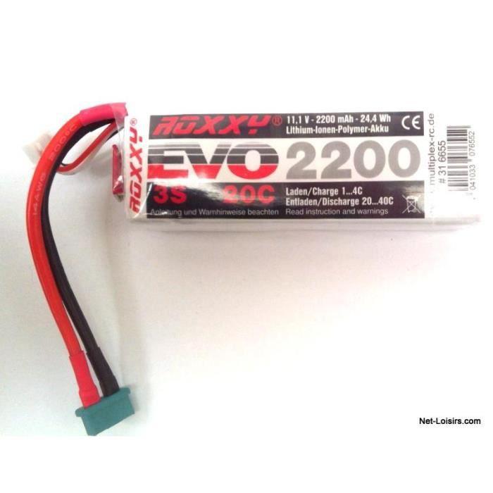Accu lipo Roxxy evo 11.1V 2200mah 20C 316655