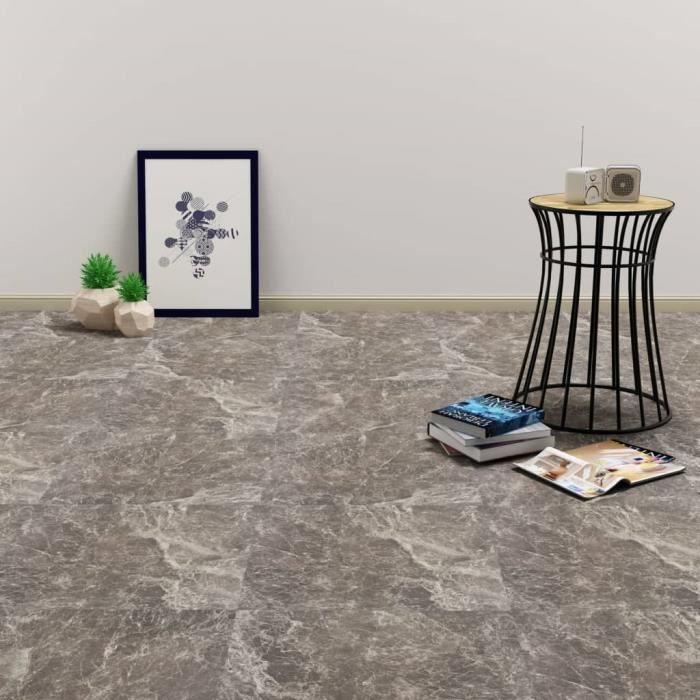 6605[NEWPRO]Lot de 20 Planches plancher autoadhésives,Dalles Peint Revêtement Mural Sol Décor Salon Chambre PVC 1,86 m² Marbre noir