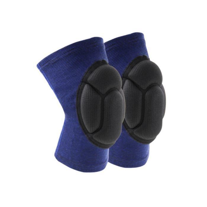 1 paire de sport genou manches éponge coussin absorbant les chocs du de KIT ATHLETISME - PACK ATHLETISME - ENSEMBLE ATHLETISME