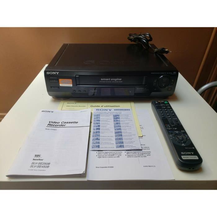 MAGNETOSCOPE SONY SLV-SE250 LECTEUR ENREGISTREUR K7 CASSETTE VIDEO VHS VCR + TEL