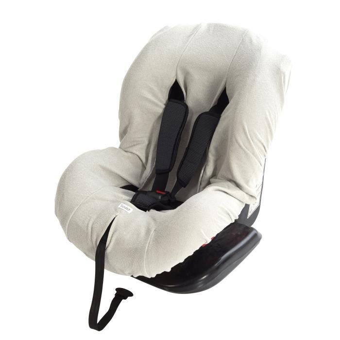 TINEO Housse de siège auto - Éponge grise