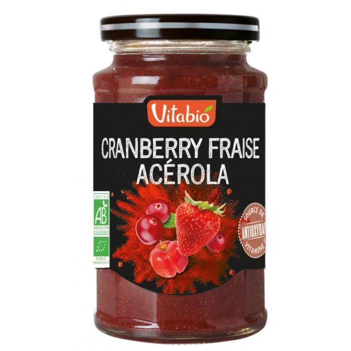 Cranberry fraise acérola 290gr - Vitabio