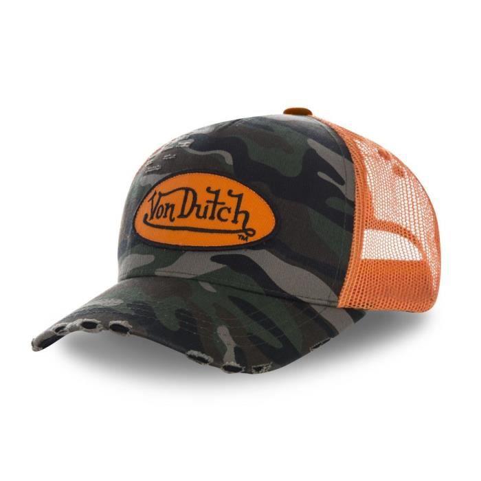 Von Dutch - Von Dutch Casquette Style Trucker Camouflage Orange