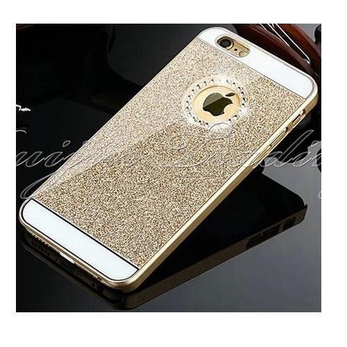 coque iphone 6 or diamant strass luxe etui