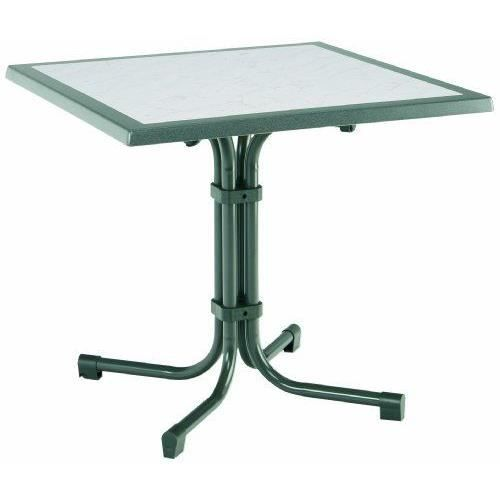 Best boulevard table de jardin mod le carr 80 achat for Table de jardin carre