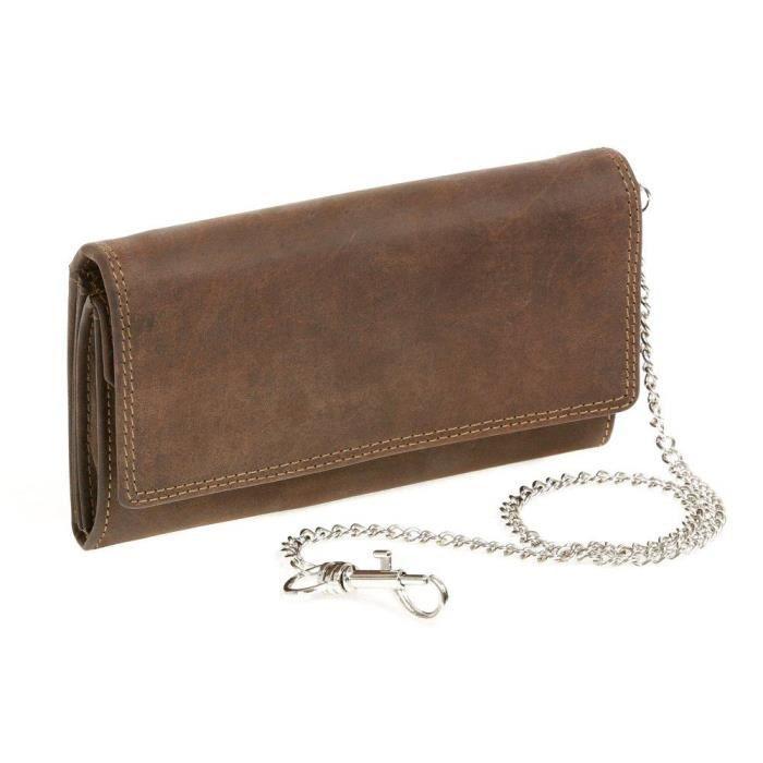 Homme Neuf Vrai Cuir Véritable Portefeuille deux volets Zip Sac à main rétro du détenteur de la carte de crédit
