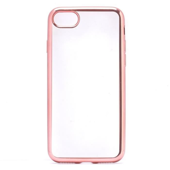 coque iphone 7 rose transparent