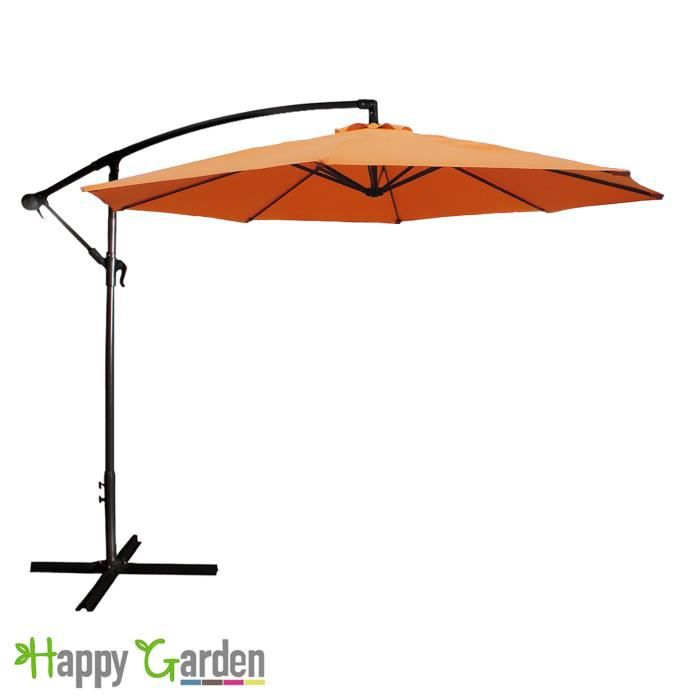 parasol d port rond 3m orange achat vente parasol parasol d port rond 3m or cdiscount. Black Bedroom Furniture Sets. Home Design Ideas