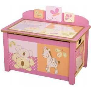 kids line coffre jouets en bois th me tropical achat. Black Bedroom Furniture Sets. Home Design Ideas