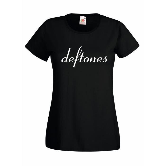 T-SHIRT T-shirt  femme Deftones - white logo T-shirt 100%