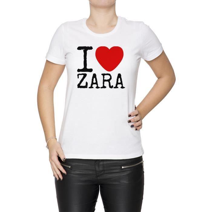 Tee-shirt - I Love Zara Femme Cou D'équipage