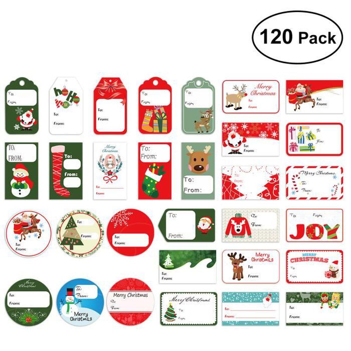 Etiquettes Cadeau Noel