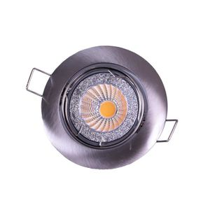Spot encastrable LED diam?tre 8,2 cm GU10 5W équivalent ? 40W chrome