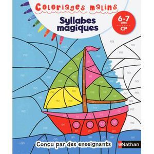DOCUMENTAIRE ENFANT NATHAN Coloriages Malins - Syllabes Magiques CP