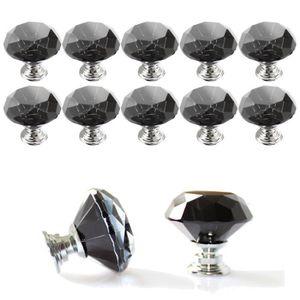 Boutons de Porte Lot de 16 Boutons de Meuble Diamant Poign/ées de Meuble Cristal Boutons pour Placards Meuble Commode Tiroirs 30mm