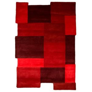TAPIS NOVATREND - Tapis Laine Design ARTY - Rouge - 160x