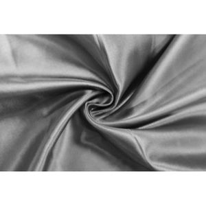 TISSU Tissu Satin Polyester Gris foncé -Au Mètre