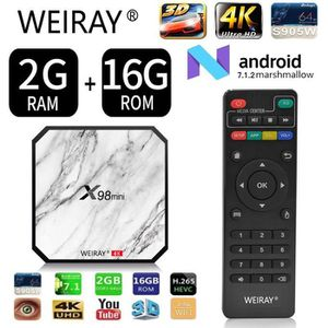 BOX MULTIMEDIA TV BOX - WEIRAY® 2Go + 16Go X98mini Décodeur Multi