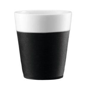 BOL BODUM BISTRO Set 2 mugs en porcelaine avec bande s