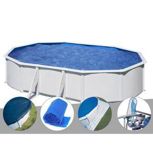 PISCINE Kit piscine acier blanc Gré Wet ovale 6,34 x 3,99