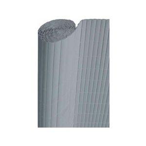 CLÔTURE - GRILLAGE Canisse PVC Gris Perle à double face H 1,80m X 3m