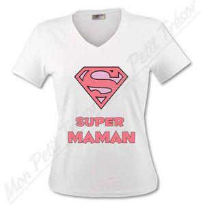 T-SHIRT T-shirt Femme - Super Maman Supe…