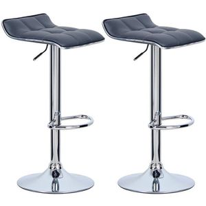 TABOURET DE BAR WOLTU Tabouret de bar en cuir synthétique,lot de 2
