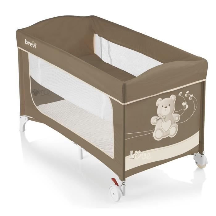 brevi lit parapluie dolcenanna plus little bear marron achat vente lit pliant 8011250811539. Black Bedroom Furniture Sets. Home Design Ideas