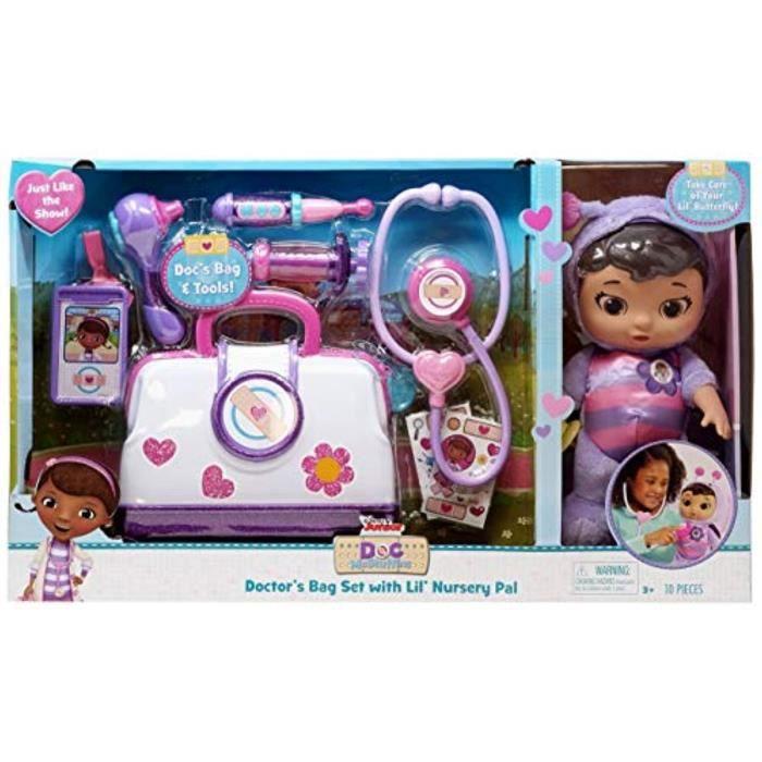 Poupee L13NZ Doc Mcstuffin Pet Rescue Doctor's Bag Set avec ensemble de jeu Lil 'Nursery Pal