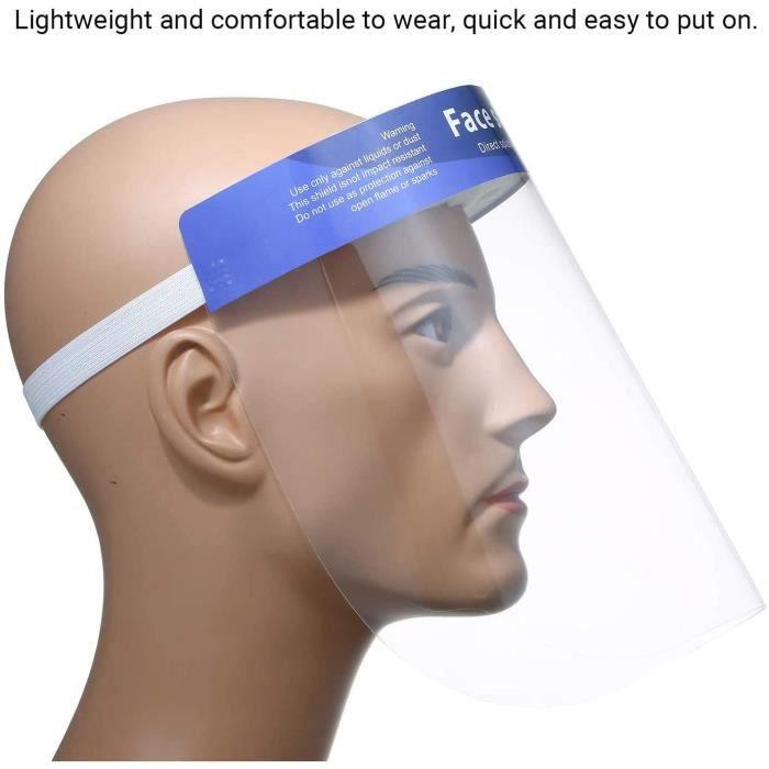 Masque Écran facial transparent anti-éclaboussures transparent couleur aléatoire