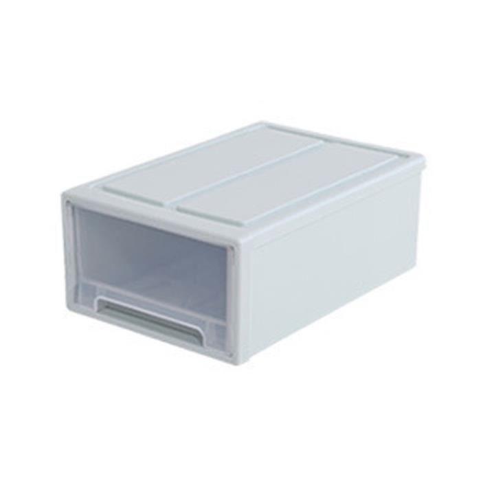 BOITE DE RANGEMENT - BAC DE RANGEMENT Conteneur de rangement tiroir en plastique style Muji minimaliste empilable