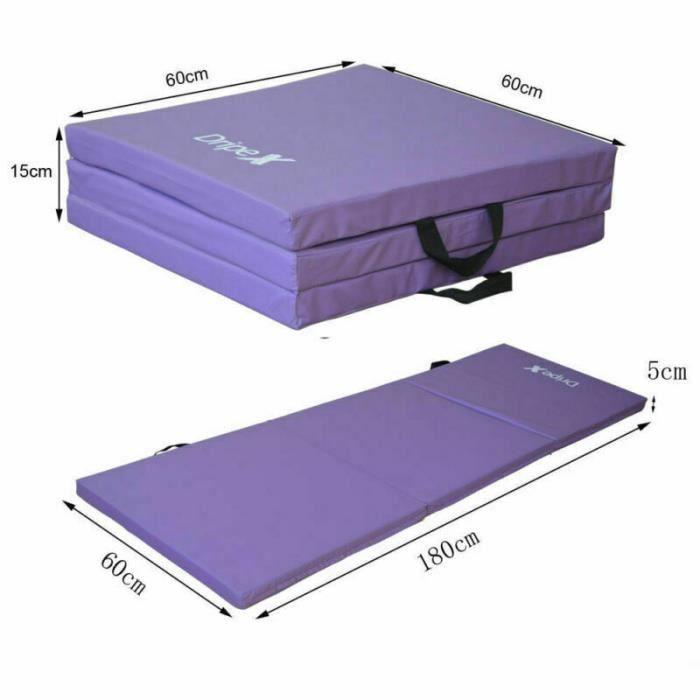 Tapis de Sol pour Fitness, Matelas de Gym Épais et Pliable pour la Maison Longueur: 180 cm * Largeur: 60cm * Épaisseur: 5 cm