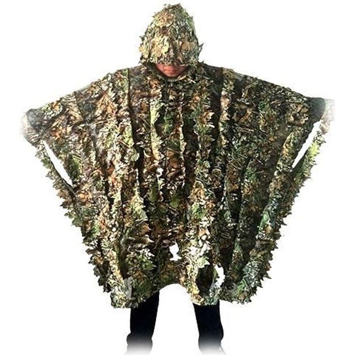 Poncho camouflage imitation feuilles mortes * aille : unique adulte * Poids : environ 380g * Matière : Polyester * Couleur: