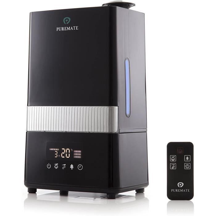PureMate PM 908 Digital Ultrasonique Brume Fraîche Humidificateur et Ioniseur avec aromathérapie - Capacité de 4.5 litres d'eau