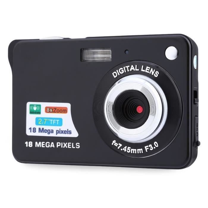 18MP HD 2,7 pouces TFT anti-vibration 8X appareil photo zoom numérique