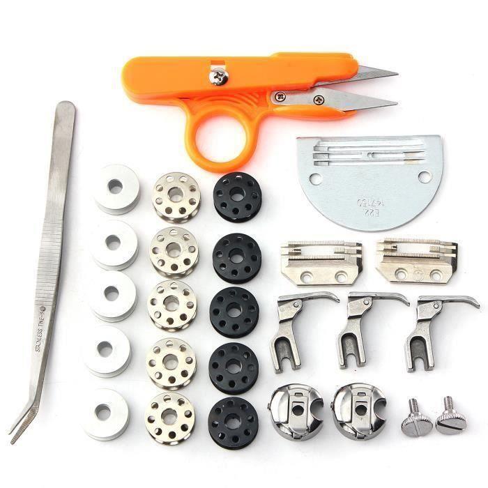 13 Pcs Industriel Aiguille Machine à coudre Pièces Pied-de-biche Accessoire Kit Aw32952