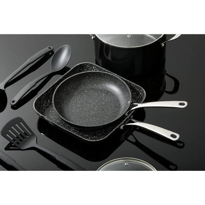 Set des casseroles de 10 pièces, Noir-Greblon Laguiole 174