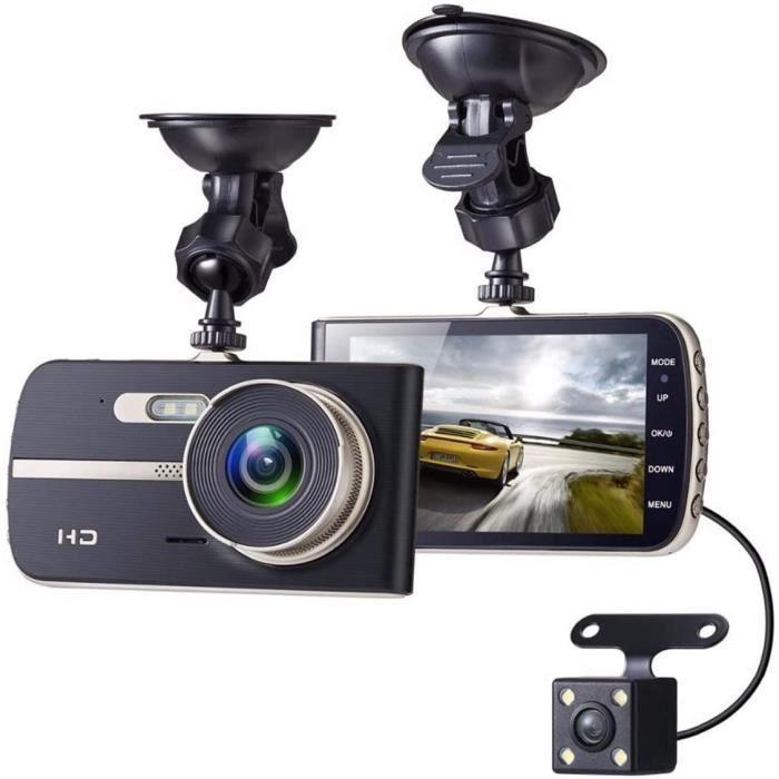 4 Pouces FHD 1080P DVR CameRa Double Objectif Vision Nocturne G-Capteur Vue ArrieRe Enregistreur Automatique Dash Cam Enregist,301