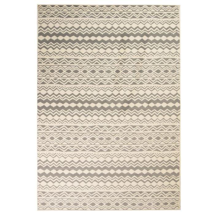 Tapis Salon Vintage Rectangle 180 x 280 cm Beige-Gris d'extérieur-d'intérieur_Camsoos