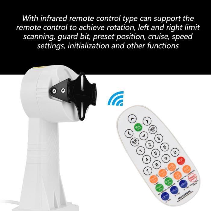 Drfeify accessoires de vidéosurveillance Support rotatif support d'installation d'inclinaison de panoramique pour caméra de