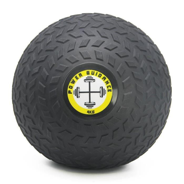 POWER GUIDANCE - Slam Ball Wall Ball Médecine Ball avec Surface texturée pour Une Prise en Main Facile, et lestée en Caoutchouc p