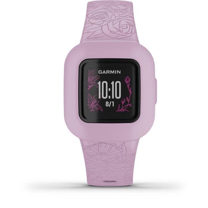 GARMIN vivofit jr3 - Floral, Pink - Bracelet d'activités pour enfants