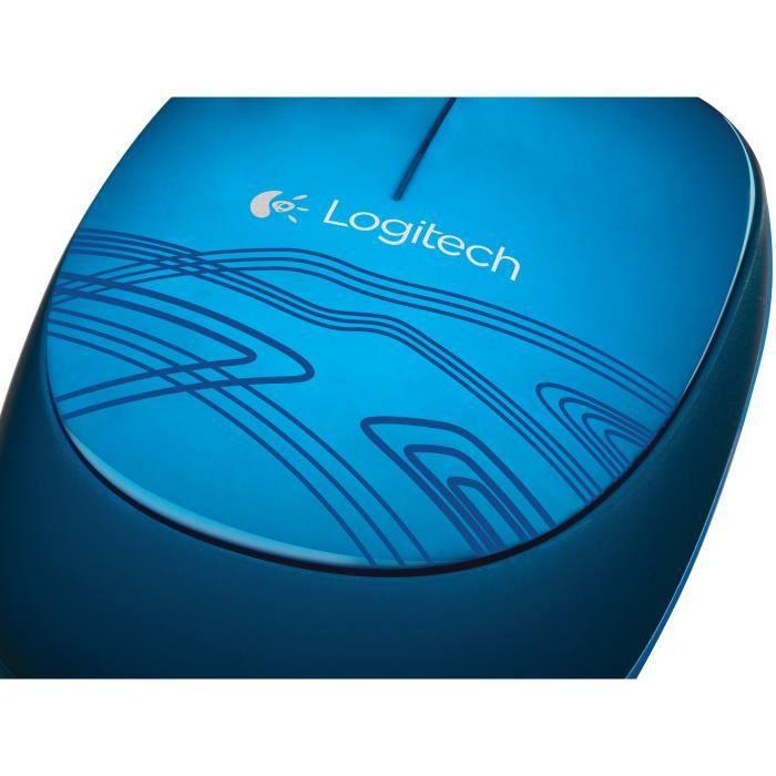 Logitech Mouse M105 Souris filaire Bleu