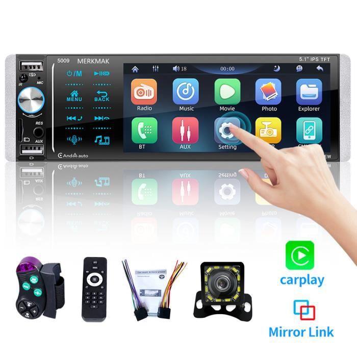 MERKMAK Autoradio Navigation GPS Android 8.0 Quad Core 10.1 inch Écran Tactile Complet Lecteur Stéréo de Voiture
