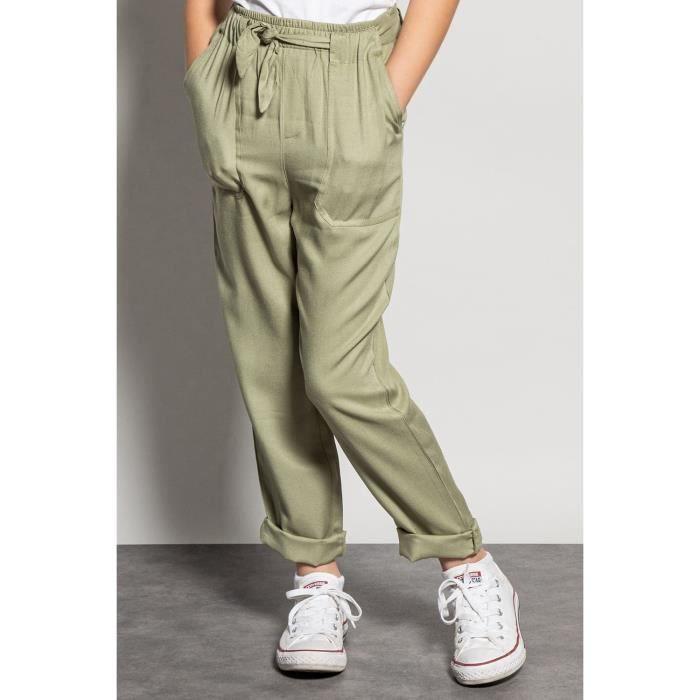 DEELUXE Pantalon fluide à poches plaquées ELIDA Light Kaki