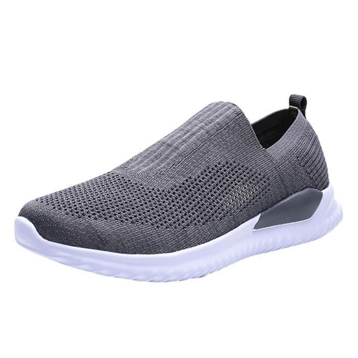 Baskets de mode d'été décontractées et respirantes gris