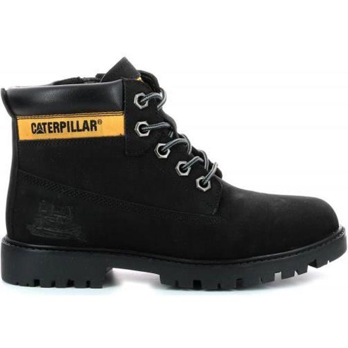 Caterpillar Boots Cuir Garçon Noir