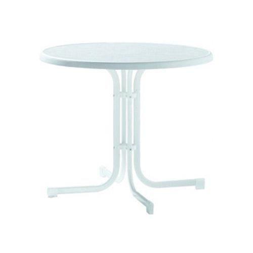 Sieger 209/W Table de Jardin Plateau Décoratif Acier Blanc 86 x 86 x 72 cm…